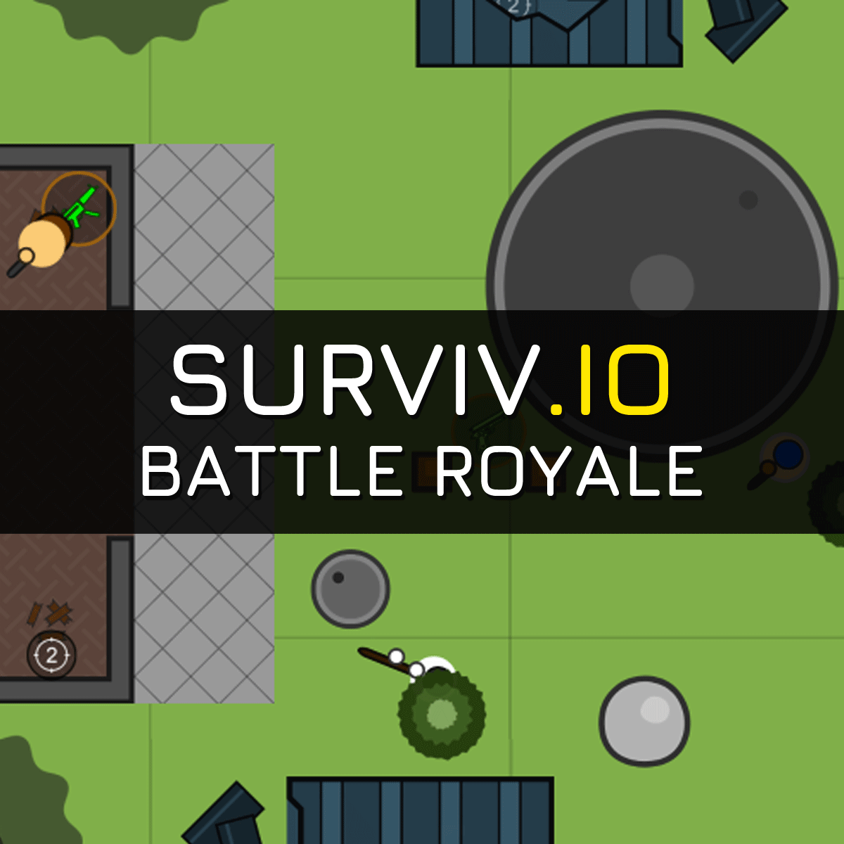 surviv io - 2d battle royale game